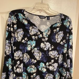 Black and Blue Floral Shirt